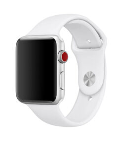 White Band for Apple Watch Sport Band 38mm 42mm Mens and Womens